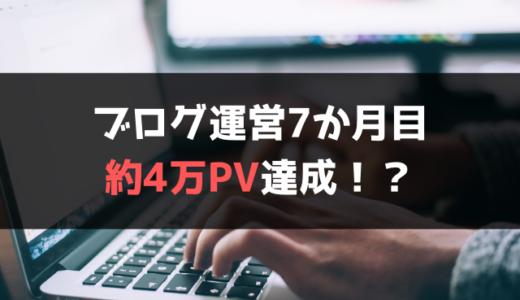 【ブログ運営7ヵ月目】約4万PV達成!収益やアクセスの変化も公開