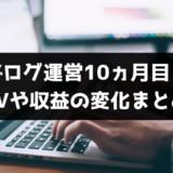 【ブログ運営10ヵ月目】PVや収益の報告!【課題は山積みだ】